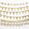 Wooden Bunting Banner Party Garland Hanging Decor Flag Prop Embellishments Craft