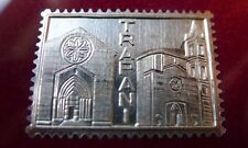 francobollo in argento Trapani Sant'Agostino Italia + cornice non foto cartolina