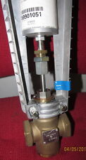 "Siemens-Landis & Staefa - Powers Controls - 1"" Actuated Brass Valve- 8"" Actuator"