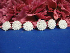 Set Of 6 White Dots Beaded Applique 0222-T1