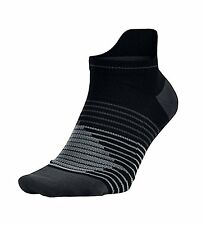 NIKE Performance Lightweight No Show Running Socks sz M Medium (6-10) Black Grey