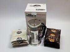 BIALETTI Preziosa Kaffeebereiter French Press 1L + 10 x Idee Kaffee á 60g im Set