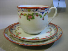 Vintage Japanese hand painted trio / cup and saucers