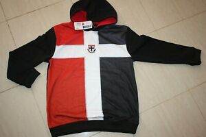 st kilda saints AFL guernsey hoodie kid's sizes, with defects