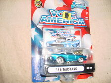 Muscle Machines '66 Mustang Blue 04-28 Vote America Series Free Usa Shipping