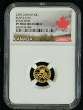 2007 Canada Louis d'or $1 Gold Coin.  NGC PF70UC