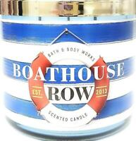Bath and Body Works Boathouse Row 3 Wick Frosted Candle Jar 14.5 oz.