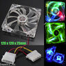 1PC 120mm Quad 4-pin LED Light Neon Clear PC Computer Case Cooling Fan Mod Hot