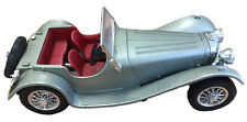 1937 BURAGO SILVER JAGUAR SS 100 - DIECAST MODEL 1:18 SCALE.