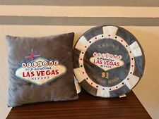 More details for las vegas pillows. $1 chip and las vegas sign set of 2. perfect for a man cave