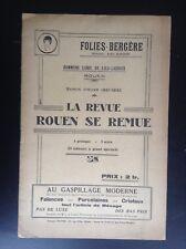 Ancien Programme Theatre Folies Bergères Rouen revue 1931