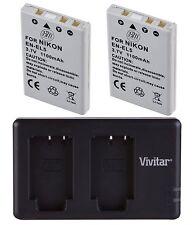 BM 2X EN-EL5 Battery & Dual Charger for Nikon P90, P100, P500, P510, P520, P530