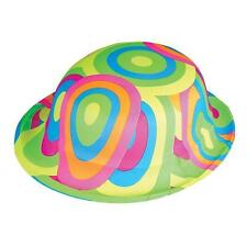 12 PLASTIC RAINBOW DERBY HATS Party Caps  Free Shipping New!!