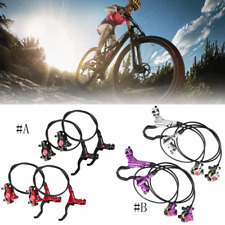 Bicycle Hydraulic Disc Brake Levers Calipers Set Mountain Bike Front and Rear GG