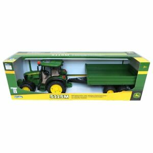1/16 John Deere 5115M And Tipping Trailer By Bruder 9816