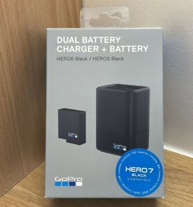 GoPro Dual Battery Charger and Battery for GoPro Hero 5, 6, 7, 8 Camera - Boxed