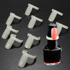 50x Schnalle Ring Karten Falsch Nagel Tips Maniküre Practice Display Nail Tips