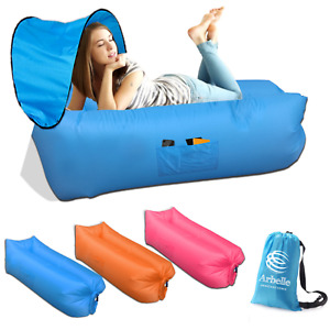 Inflatable Air Lounge Air Sofa Portable With Removable Sun Shade - Waterproof