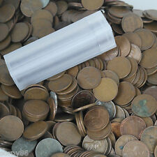 (50) Unsearched Wheat Pennies in Plastic Stack-able Tube: 1909-1958 Penny Roll