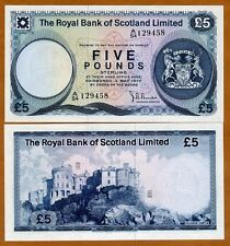 Scotland Royal Bank, 5 pounds, 1977, P-337, UNC