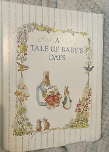 Vtg Beatrix Potter A Tale of Baby's Days book Birth - 6 Years Journal Gibson NEW