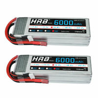 2pcs HRB 14.8V 6000mAh 4S RC Lipo Battery 50C 100C for Drone Airplane Helicopter