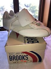 Vintage White Brooks Baseball Cleats Sz 7.5 Leather Suede Nos Orig Box 70-80's
