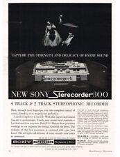 1960 Sony Superscope Sterecorder 300 Reel-to Reel tape Deck Hi-Fi Vtg Print Ad