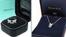 Tiffany & Co. Victoria Aquamarine Diamond Ring & Pendant Set With Tiffany Box