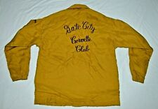 "Vintage Gate City Corvette Club 1970's Tan Jacket Youth M ""Spencer"" Windless NH"