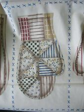 Cut and Sew Fabric Panels (2) Mitten Patches Daisy Kingdom FolkHeart Craft 1996