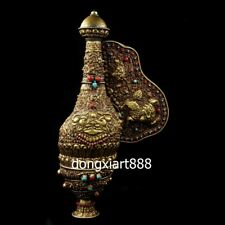 Tibet copper gold Wire inlay shell conch conch whelk sea snail Charonia horn