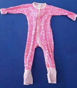 Bonds Baby Girl Marakesh Madness Pink Zip Wondersuit Size 0 rare