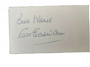 1966 World Cup Winner George Eastham Signed White Paper England