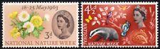 (Ref-10959) GRAN BRETAGNA QEII 1963 NATIONAL Nature settimana SG.637/638 COME NUOVO (Gomma integra, non linguellato)