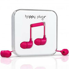 Nuevo FELIZ tapones de oído Auriculares Auriculares Con Mic & Remote Cerise PINK 7724