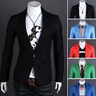 Fashion Men's Formal Business One Button Suit Blazer Slim Tuxedo Jacket Coat New