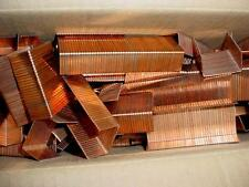 "4 LBS   1 1/4"" X 3/4""  PACKING STAPLES 2000 COPPER-PLATED NEW"