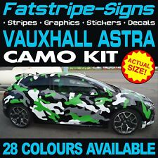 VAUXHALL ASTRA CAMO GRAPHICS STICKERS STRIPES DECALS OPEL VXR MK4 MK5 MK6 MK7