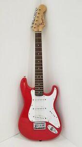 Red Fender Squier Strat Mini Electric Guitar
