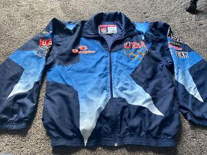 VTG Champion 1996 Atlanta Olympics US Team Men's Warm Up Jacket - Size Large
