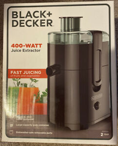 New 400 Watt Fruit And Vegetable Juice Extractor/Juicer, Compact Design, Black