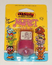 1984 *Vintage* STAMPOS Rubber Stamps Muppets Babies: Baby Mrs. Piggy Purple