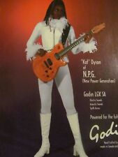 New Power Generation, N.P.G.,Kat Dyson, Godin Guitars, Promotional Print Ad