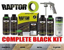 RAPTOR URETHANE BLACK INCLUDING GUN TUB LINER KIT PROTECTIVE COATING 4L TAPE
