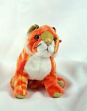Ty Beanie Baby TIGER 2000 Gold Eyes Orange Plush Toy Animal RARE NEW RETIRED