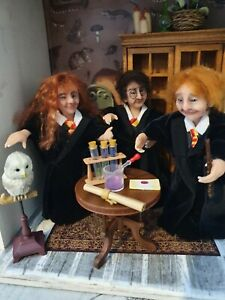 1:12th Dollshouse witches magic Harry Potter inspired