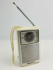 Vintage Panasonic RF-505 portable Transistor Radio white working fair condition