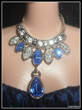 JEWELRY  BARBIE DOLL QUEEN OF SAPPHIRES  GLAMOUR SWAROVSKI CRYSTALS NECKLACE