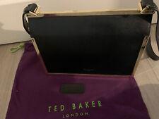 Black Leather Ted baker Bag with Adjustable Strap